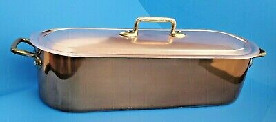 $175 • Buy Vtg Copper Tin Lined Seafood Fish Poacher Steamer Poissonier Pan W Rack & Lid