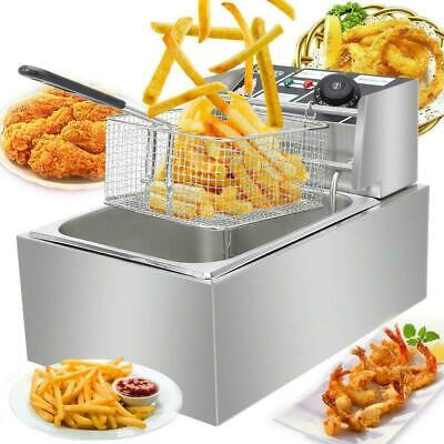 £35.95 • Buy 6L Commercial Electric Deep Fryer Fat Chip Frying Pan & Basket Stainless Steel