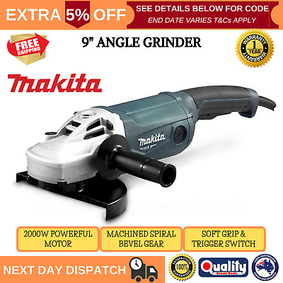 AU189.90 • Buy Makita 9  Angle Grinder 230mm M9001G 9 Inch 2000W Powerful Cord Trigger Switch