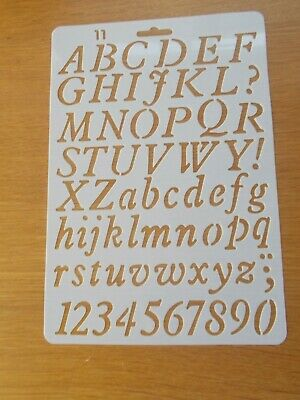 £2.99 • Buy Plastic Letter Alphabet Number Layering Stencils Painting Scrap Writing Cards 11