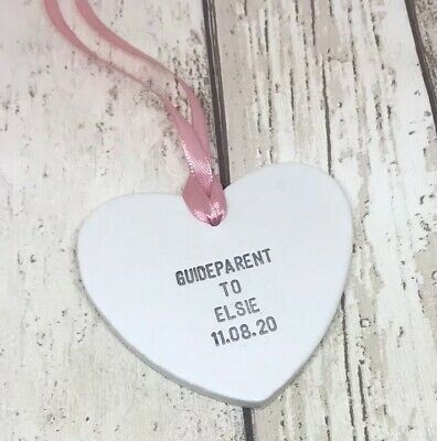 £5 • Buy Personalised Guide Parent Naming Day New Baby Heart Thank You Gifts Tags