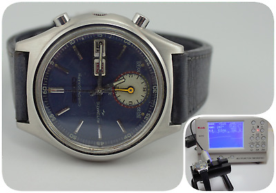$ CDN1353.84 • Buy Vintage Seiko Chronograph Flyback Automatic 7016-8000 Blue Dial