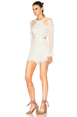 $206.67 • Buy Zimmermann - Size 3 - NEW WITH TAGS Divinity Embroidered Silk-Georgette Playsuit
