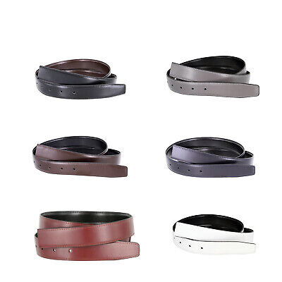 $13.95 • Buy Smooth Reversible Genuine Leather Dress Replacement Belt Strap 1-3/8 (35mm) Wide