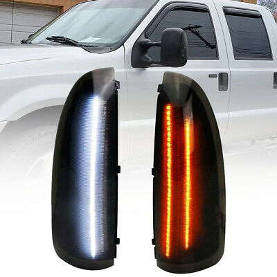 $34.49 • Buy Smoked Led Side Mirror Light For 03-07 Ford F250-F550 SuperDuty 00-05 Excursion