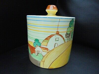 A Clarice Cliff Cylindrical Shape Preserve Pot In BROOKFIELD Pattern • 295£