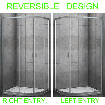 Quadrant Shower Enclosure And Stone Tray Corner Cubical Glass Shower Door QRM • 39.99£