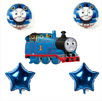 Large Thomas The Tank Engine Party Foil Balloon 5PC Set - Party Decorations Kit • 6.49£