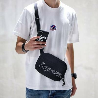 $ CDN242.53 • Buy 🔥Supreme Shoulder Bag Black One Size 100% Authentic ✅FW18 2018 Crossbody Travel