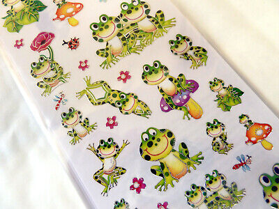 Frog Frogs Stickers Kids Labels For Craft Decoration Card-Making WD-57 • 2.50£