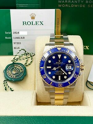$ CDN20293.49 • Buy BRAND NEW Rolex Submariner 116613 Blue Ceramic18K Gold Steel Box Papers 2020