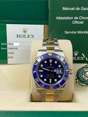 $ CDN17045.45 • Buy Rolex Submariner 116613 Blue Ceramic 18K Yellow Gold Steel Box Papers 2015