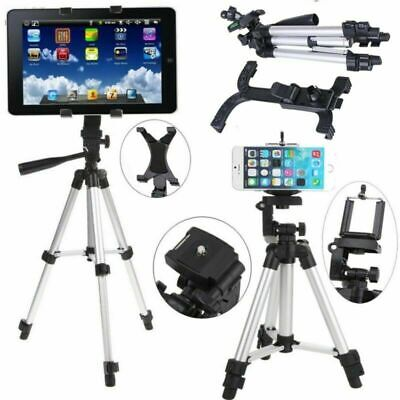 Universal Tripod Tablet Floor Stand Adjustable Holder For Phone Mini IPad Silver • 12.09£