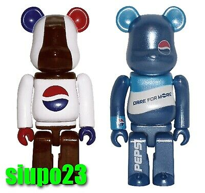 $69.99 • Buy Medicom 100% Bearbrick ~ PEPSI Be@rbrick 2004 Dare For More 2pcs