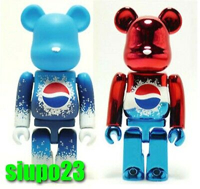 $89.99 • Buy Medicom 100% Bearbrick ~ PEPSI Be@rbrick 2011 Red & Blue 2pcs