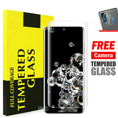 AU5.95 • Buy For Samsung Galaxy S20 Plus S20 Ultra Full Cover Tempered Glass Screen Protector