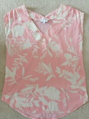 AU11.99 • Buy WITCHERY Pink X Cream Floral Top  Size XS