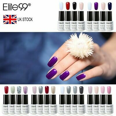 Elite99 4PCS Colour Gel Polish Varnish Gift Kits Set Top Base Coat Nail Art DIY • 2.99£