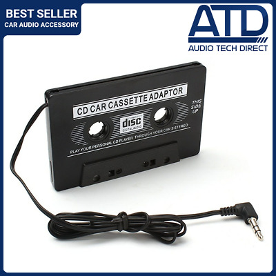 £3.99 • Buy Car Audio Tape Cassette Casette To 3.5mm AUX Jack MP3 IPod IPhone Audio Adapter