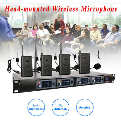 U-F4000 Head-mounted 4-channel Wireless Mic Set One Receiver And Four Microphone • 151.79£