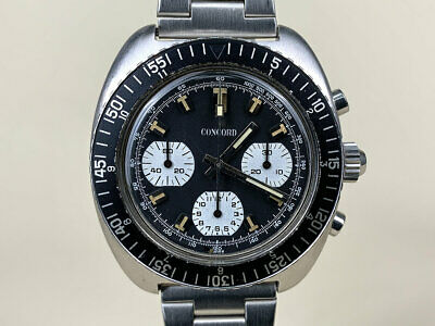 $ CDN3993.53 • Buy Vintage 1970s Concord Valjoux 7736 Manual Wind Chronograph Dive Watch 654001P