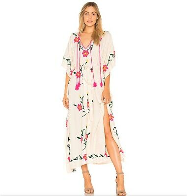 AU380.15 • Buy Sayulita Embroidered Kaftan In PearlSpell & The Gypsy Collective Size M/L
