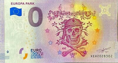 Ticket 0 Euro Europa Park 7 Germany 2020 Number Various • 4.91£