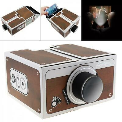 Mini DIY Cardboard Movie Portable Projector Cinema For Android Smartphone IPhone • 9.54£