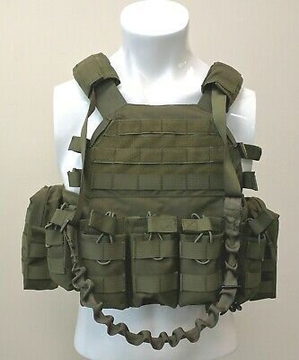 $99.95 • Buy LQArmy Military Security Tactical Molle Plate Carrier Assault Vest W/Pouch Green