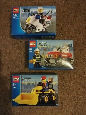 Lego City - Police Bike, Fire Car And Mini Digger (7235, 7241 And 7246) • 4.99£