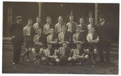 SOCIAL HISTORY Unidentified Football Team Group By Pavilion, RP Postcard Unused • 5.95£