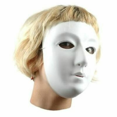 White Plastic Full Face Masks Children Size Ready To Decorate Mask Making  • 3.99£