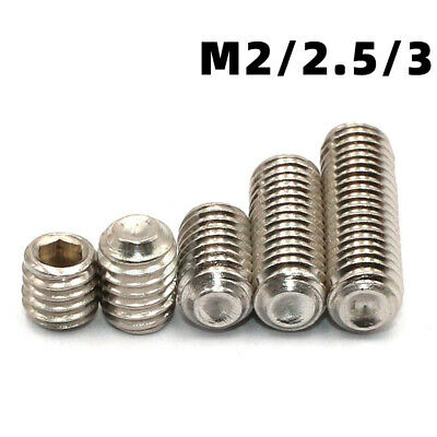 $1.85 • Buy M2,2.5,3 A2 304 Stainless Cup Point Allen Hex Socket Set Screw Grub Screw DIN916