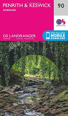 OS Landranger Map  90  Penrith & Keswick • 8.88£