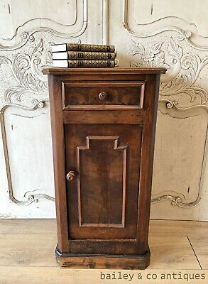 AU285 • Buy Antique French Side Cabinet Bedside Walnut - TA019