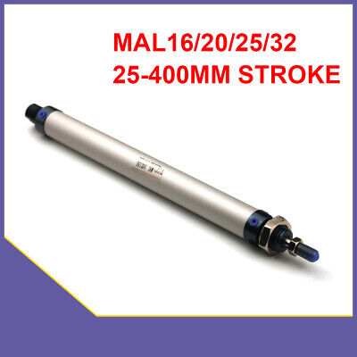Pneumatic Air Cylinder MAL 16/20/25/32 Single Rod Double Acting 25-400mm Stroke • 12.27£