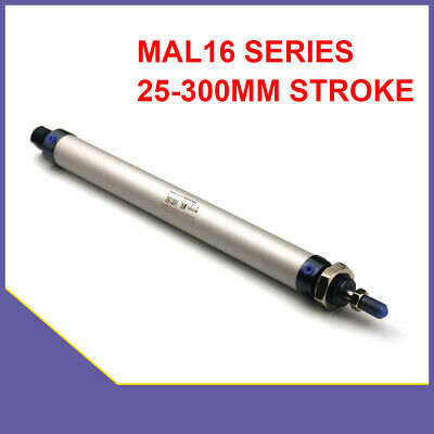 Pneumatic Air Cylinder MAL 16mm Bore X 25-300mm Stroke Single Rod Double Acting • 11.27£