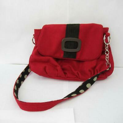 Earth Squared Fairtrade Bag Red Wool Black White Ladybird Magnetic Clasp Buckle • 20£