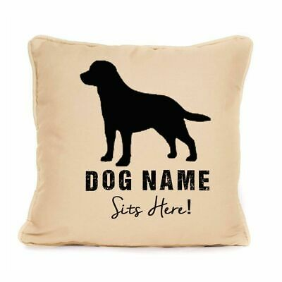 Personalised ' Labrador Sits Here ' Cushion With Pad Gift For Dog Lovers 18 X 18 • 9.99£