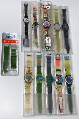 $ CDN175.89 • Buy Vintage Swatch Watch 80's 90's Swiss Made Lot Of 10 Watches With Extra Band