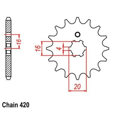 AU19.98 • Buy Standard Front Sprocket 15T For Yamaha LB80 CHAPPY 1974-1976