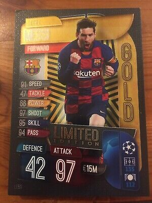 Match Attax 19/20 Limited Edition Gold Messi • 4.95£