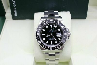 $ CDN13068.40 • Buy Rolex GMT Master II 116710LN Black Ceramic Stainless Steel Box Booklet