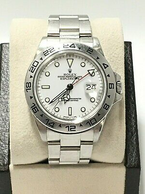 $ CDN10562.19 • Buy Rolex Explorer II 16550 White Dial Stainless Steel UNPOLISHED Collectible