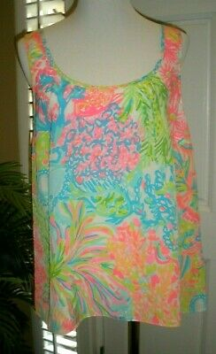 $27.99 • Buy Lilly Pulitzer Womens Large Cosmos Top Lovers Coral NEW W/ Tags Multi-color NWT