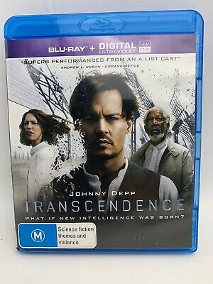 AU11 • Buy JOHNNY DEPP-Transcendence BLU-RAY- AS NEW
