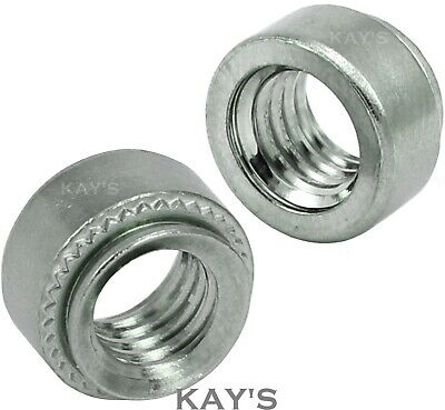 £1.94 • Buy Self Clinching Nuts Steel Round Threaded Clinch Swage Inserts M3 M4 M5 M6 M8 M10