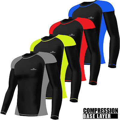 Mens Compression Top Armour Base Layer T-Shirt Gym Sports Yoga Fitness Shirt • 10.99£
