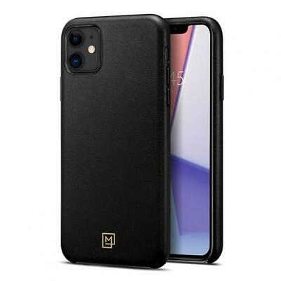 AU43.32 • Buy Spigen IPhone 11 (6.1 ) La Manon Premium Leather Case, Black, Durable Leather Wi