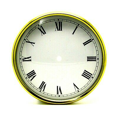 £7.99 • Buy New Brass Clock Bezel With White Dial Pan & Domed Glass Face 91.5mm Clock Making